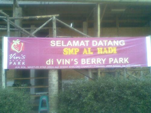 Ucapan Selamat Datang dari Vin's berry