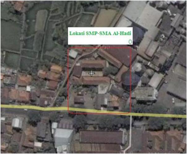 lokasi SMP Alhadi 2